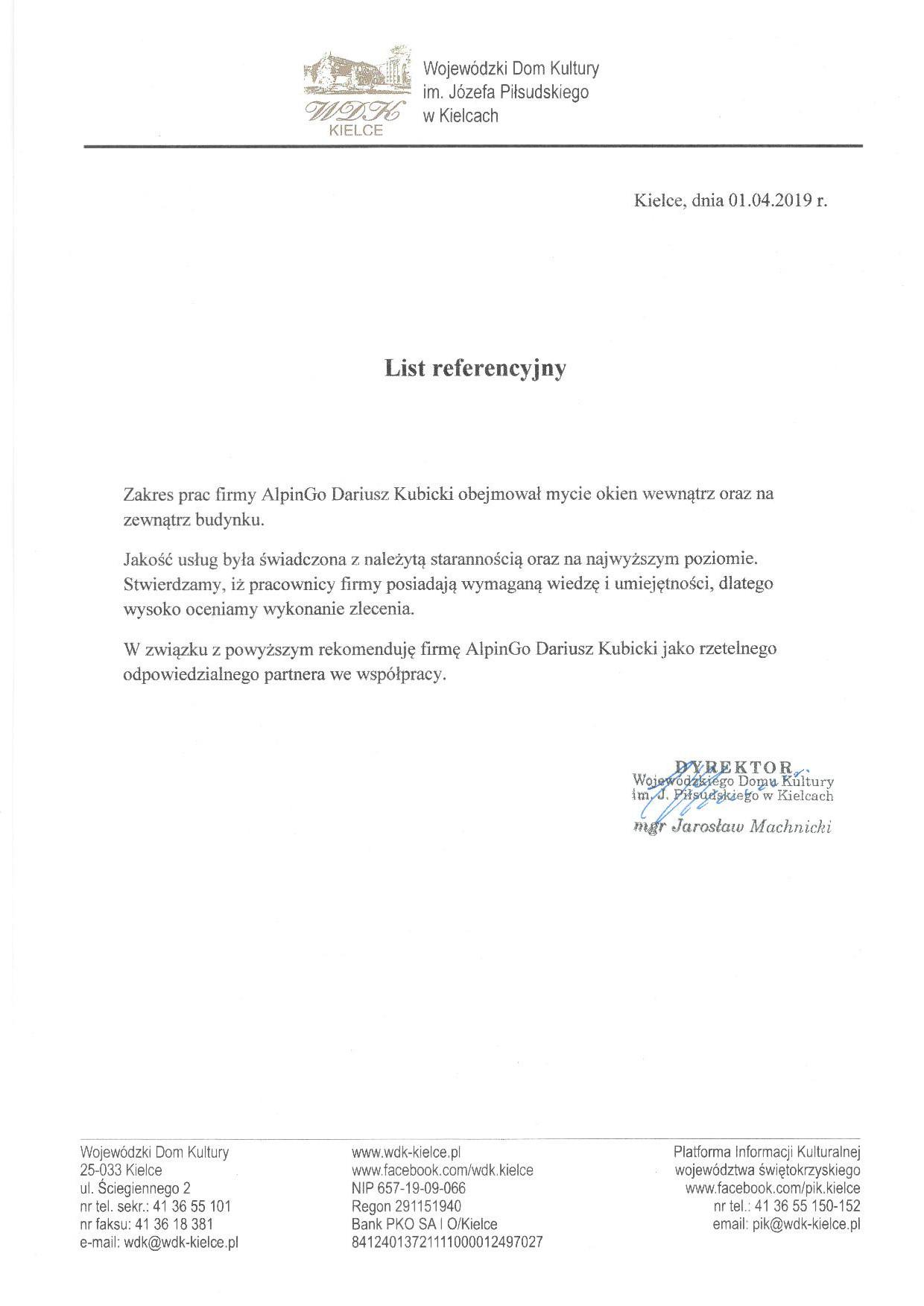 Referencje - AlpinGo Dariusz Kubicki